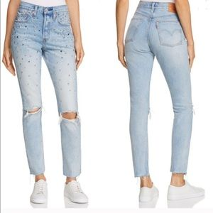 Levi's 501 Skinny Jeans Counting Stars 27 x 28
